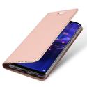 DUX-MATE20LITEROSE - Etui Huawei Mate-20 Lite rose fin avec rabat latéral aimant invisible et coque souple