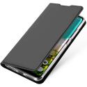 DUX-MIA3GRIS - Etui Xiaomi Mi-A3 gris foncé fin avec rabat latéral aimant invisible et coque souple