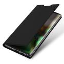 DUX-NOTE10NOIR - Etui Galaxy Note-10 rabat latéral aimant invisible fonction stand noir