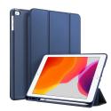 DUX-OSOMIPAD102BLEU - Etui iPad 10.2 bleu Dux OSOM avec coque intérieure souple et rabat articulé