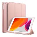 DUX-OSOMIPAD102ROSE - Etui iPad 10.2 rose Dux OSOM avec coque intérieure souple et rabat articulé