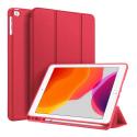 DUX-OSOMIPAD105ROUGE - Etui iPad Air 3 et Pro 10.5 rouge Dux OSOM avec coque intérieure souple et rabat articulé