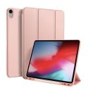 DUX-OSOMIPAD12918ROSE - Etui iPad 12.9 (2018) rose avec coque intérieure souple et emplacement stylet