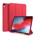 DUX-OSOMIPAD12918ROUGE - Etui iPad 12.9 (2018) rouge avec coque intérieure souple et emplacement stylet