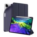 DUX-OSOMIPADPRO1120BLEU - Etui iPad pro 11 pouces (2020) bleu Dux OSOM avec coque intérieure souple et rabat articulé