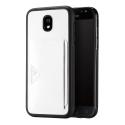 DUX-POCARDJ530BLANC - Coque Galaxy J5-2017 blanche fine avec logement carte