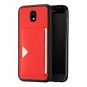 DUX-POCARDJ730ROUGE - Coque Galaxy J7-2017 rouge fine avec logement carte