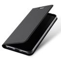 DUX-REDMI5AGRIS - Etui Xiaomi Redmi-5A gris fin avec rabat latéral aimant invisible et coque souple