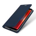DUX-REDMI6ABLEU - Etui Xiaomi Redmi-6A bleu fin avec rabat latéral aimant invisible et coque souple