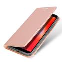 DUX-REDMI6AROSE - Etui Xiaomi Redmi-6A rose fin avec rabat latéral aimant invisible et coque souple