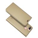 DUX-REDMI6GOLD - Etui Xiaomi Redmi-6 gold fin avec rabat latéral aimant invisible et coque souple