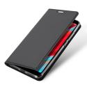 DUX-REDMI8GRIS - Etui Xiaomi Redmi-8 gris fin avec rabat latéral aimant invisible et coque souple