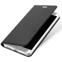 DUX-REDMINOTE4XGRIS - Etui Xiaomi Redmi-Note 4X gris fin avec rabat latéral aimant invisible et coque souple