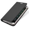 DUX-REDMINOTE5AGRIS - Etui Xiaomi Redmi-Note 5A gris fin avec rabat latéral aimant invisible et coque souple