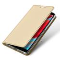 DUX-REDMIS2GOLD - Etui Xiaomi Redmi-S2 gold fin avec rabat latéral aimant invisible et coque souple