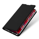 DUX-REDNOTE8PRONOIR - Etui Xiaomi Redmi Note 8 PRO noir fin avec rabat latéral aimant invisible et coque souple