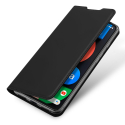 DUX-RENO45G - Etui Oppo Reno 4(5G) noir fin avec rabat latéral aimant invisible et coque souple