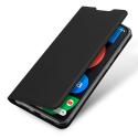 DUX-RENO4Z - Etui Oppo Reno 4Z (5G) noir fin avec rabat latéral aimant invisible et coque souple