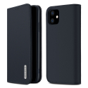DUX-WISHIP11BLEU - Etui iPhone 11 en cuir bleu rabat latéral fonction stand