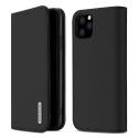 DUX-WISHIP11PMAXNOIR - Etui iPhone 11 Pro Max en cuir noir rabat latéral fonction stand