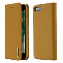 DUX-WISHIP8PLUSCAMEL - Etui iPhone 7/8 Plus en cuir camel rabat latéral fonction stand