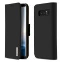 DUX-WISHNOTE8NOIR - Etui Galaxy Note8 en cuir noir rabat latéral fonction stand