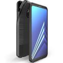DUXMOJO-J62018 - Coque Galaxy J6-2018 antichoc flexible aspect métal brossé