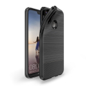 DUXMOJO-P20LITENOIR - Coque Huawei P20 LITE antichoc flexible noir métal brossé