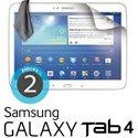 ECRAN-TAB4101 - 2 films protecteurs écran pour Galaxy Tab4 10.1 tablette Samsung