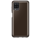 EF-QA125TB - Coque Samsung origine noire fumée souple Galaxy A12