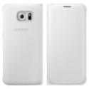 EFWG9220BLANC - Etui Galaxy S6 blanc origine Samsung rabat latéral