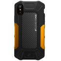 ELEMENT-FORMULAIPXORANGE - Coque iPhone X Element-Case Formula en carbone noir et orange