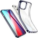ESR-HALOIP12MINIBLEU - Coque souple iPhone 12 Mini contour bleu dos transparent Halo de ESR