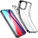 ESR-HALOIP12MININOIR - Coque souple iPhone 12 Mini contour noir dos transparent Halo de ESR