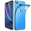 ESR-TWINKLERXRBLEU - Coque souple iPhone XR contour bleu dos transparent Twinkler de ESR