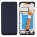 FACE-A02S - Ecran complet origine Samsung Galaxy A02s coloris noir GH82-20118A