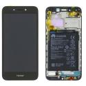 FACE-HONOR6ANOIR - Ecran complet Honor 6A Vitre + Ecran LCD sur chassis assemblé coloris noir