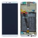 FACE-MATE10LITEBANC - Ecran complet Huawei Mate-10 LITE Vitre + Ecran LCD sur chassis assemblé coloris blanc