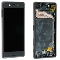 FACEAV-XPERIAXNOIR - Ecran complet Xperia-X Sony assemblé sur châssis Vitre tactile et LCD coloris noir
