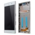 FACEAV-XPZ5BLANC - Ecran complet Xperia Z5 assemblé sur châssis blanc Vitre tactile et LCD