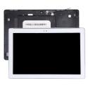 FACEAV-Z300MBLANC - Ecran complet Asus ZenPad 10 Z300M chassis + LCD + vitre tactile coloris blanc