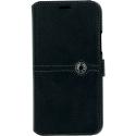 FACOBOOKIP11PRO - Etui iPhone 11 Pro Faconnable rtabat latéral noir avec logements cartes