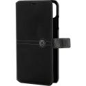 FACOBOOKIPXSNOIR - Etui iPhone XS Faconnable rtabat latéral noir avec logements cartes