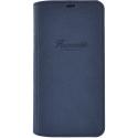 FAI85BKFR114 - Etui iPhone X/XS Faconnable rtabat latéral bleu marine