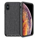 FAIRPLAY-ALTAIRIPXR - Coque antichoc FairPlay Altair iPhone XR noir et textile gris