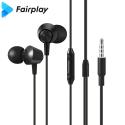 FAIRPLAY-AURB-01 - Ecouteurs FairPlay Aurora intra-auriculaires jack 3,5mm coloris noir