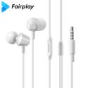 FAIRPLAY-AURW-01 - Ecouteurs FairPlay Aurora intra-auriculaires jack 3,5mm coloris blanc
