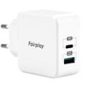 FAIRPLAY-MONZA30WUSBC - Chargeur secteur Monza de FairPlay USB-C et USB puissance 30W