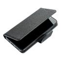 FANCY-A224GNOIR - Etui Galaxy A22(4G) Fancy-Diary noir logements cartes fonction stand