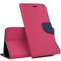 FANCY-IP5CFUSHIA - Etui iPhone 5c Fancy-Diary fushia logements cartes fonction stand